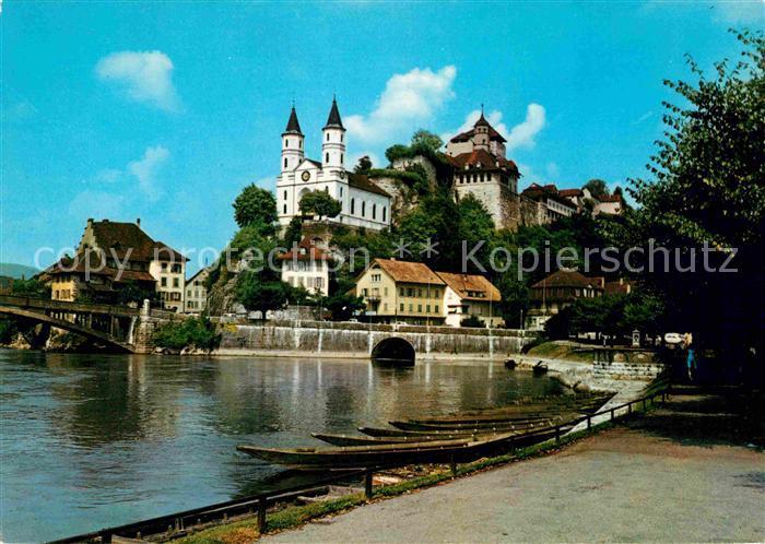 AK / Ansichtskarte Aarburg AG Kirche Festung  Kat. Aarburg