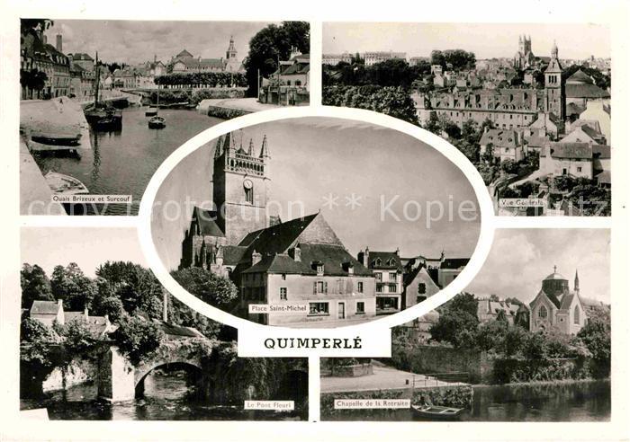 AK / Ansichtskarte Quimperle Quais Brizeux Surcouf Pont Fleuri Chapelle Retraite Kat. Quimperle