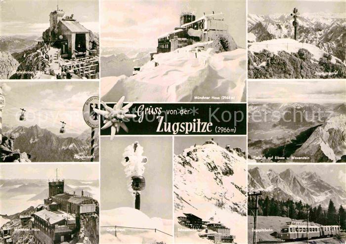 AK / Ansichtskarte Zugspitze Muenchner Haus Zugspitzbahn Schneeferner Haus Gipfelkreuz Kat. Garmisch Partenkirchen