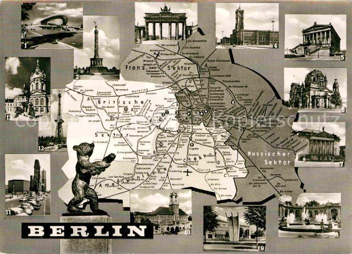 AK / Ansichtskarte Berlin Brandenburger Tor Siegessaeule Kaiser Wilhelm Gedaechtniskirche  Kat. Berlin