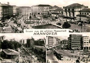 AK / Ansichtskarte Hannover Hauptbahnhof Cafe Kroepcke Bahnhofstrasse Kat. Hannover