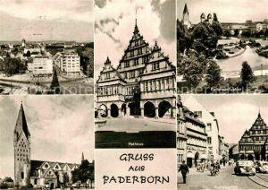 AK / Ansichtskarte Paderborn Westerntor Rathaus Paderquellgebiet Dom Rathausplatz Kat. Paderborn