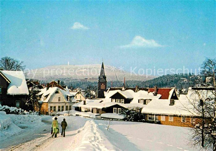 AK / Ansichtskarte Braunlage Ortspartie im Winter Kat. Braunlage Harz