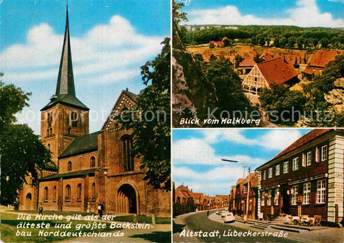 AK / Ansichtskarte Bad Segeberg L?beckerstrasse Blick vom Kalkberg Kirche Kat. Bad Segeberg
