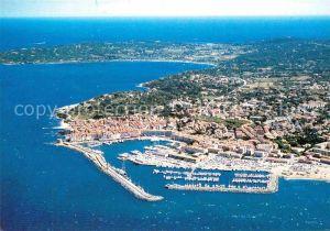 AK / Ansichtskarte Saint Tropez Var Ses plages et le port vue aerienne Kat. Saint Tropez