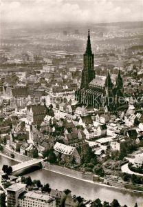 AK / Ansichtskarte Ulm Donau Luftaufnahme Dom Kat. Ulm