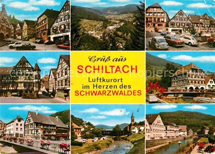 AK / Ansichtskarte Schiltach Rathaus Marktplatz Kirche Bruecke Panorama  Kat. Schiltach Schwarzwald