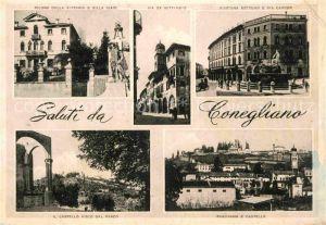 AK / Ansichtskarte Conegliano Via XX Settembre Castello Villa Giavi Via Cavour  Kat. Conegliano