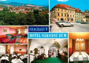 AK / Ansichtskarte Prachatice Prachatitz Hotel Narodni Dum Restaurant Kat. Tschechische Republik