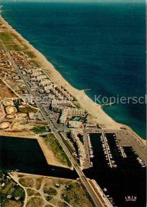 AK / Ansichtskarte Port Barcares Cote catalane et le port vue aerienne