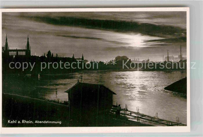 AK / Ansichtskarte Kehl Rhein Abendstimmung Kat. Kehl