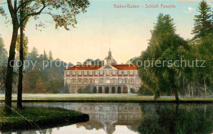 AK / Ansichtskarte Baden Baden Schloss Favorite Kat. Baden Baden