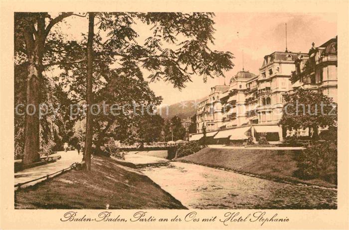 AK / Ansichtskarte Baden Baden Hotel Stephanie Kat. Baden Baden