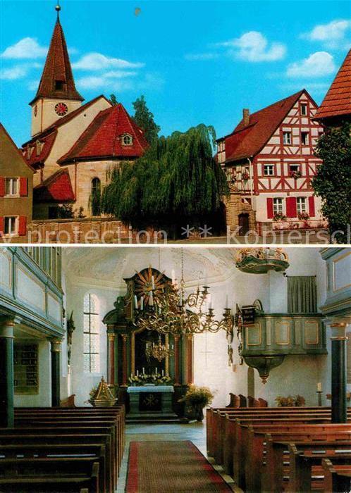 AK / Ansichtskarte Reichenschwand Evangelische Kirche Pfarrhaus  Kat. Reichenschwand