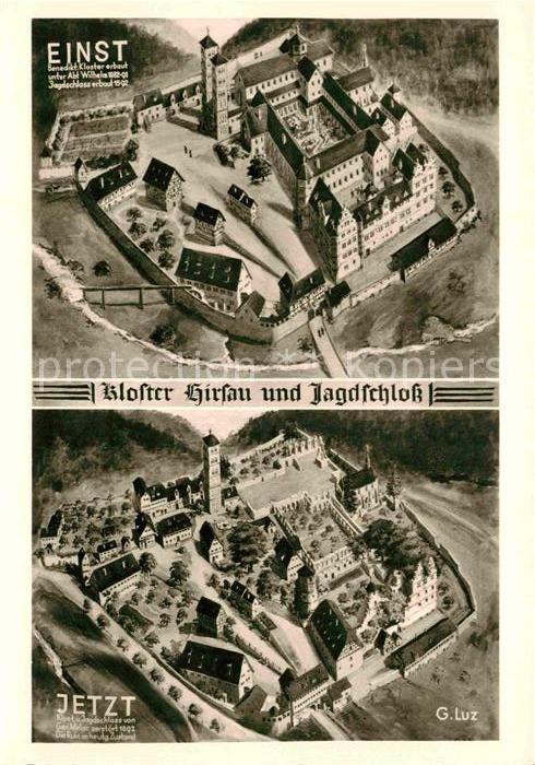 AK / Ansichtskarte Hirsau Kloster und Jagdschloss einst und jetzt Kat. Calw