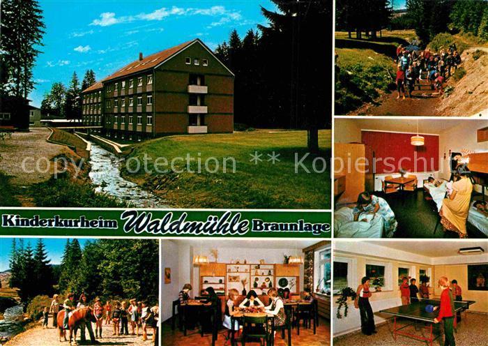 Ak Ansichtskarte Braunlage Caritas Kinderkurheim Waldmuehle Kat