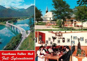 AK / Ansichtskarte Fall Bad Toelz Gasthaus Faller Hof Sylvensteinsee