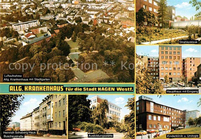 AK / Ansichtskarte Hagen Westfalen Allgemeines Krankenhaus Heinrich Schaberg Haus Kat. Hagen