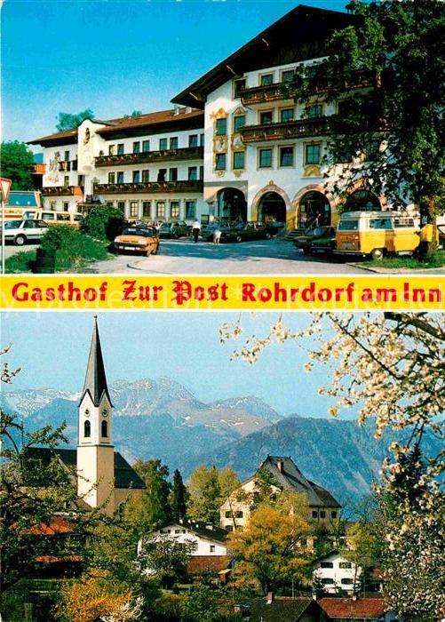 ak rohrdorf panoramaansicht gasthof zur post autobahnsee kath kirche nr 6356363 oldthing. Black Bedroom Furniture Sets. Home Design Ideas