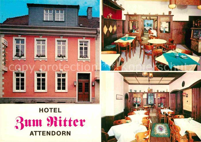 AK / Ansichtskarte Attendorn Hotel zum Ritter Kat. Attendorn