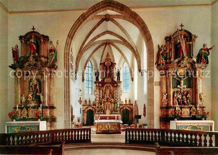 AK / Ansichtskarte Zell Harmersbach Wallfahrtskirche  Hochaltar Kat. Zell am Harmersbach