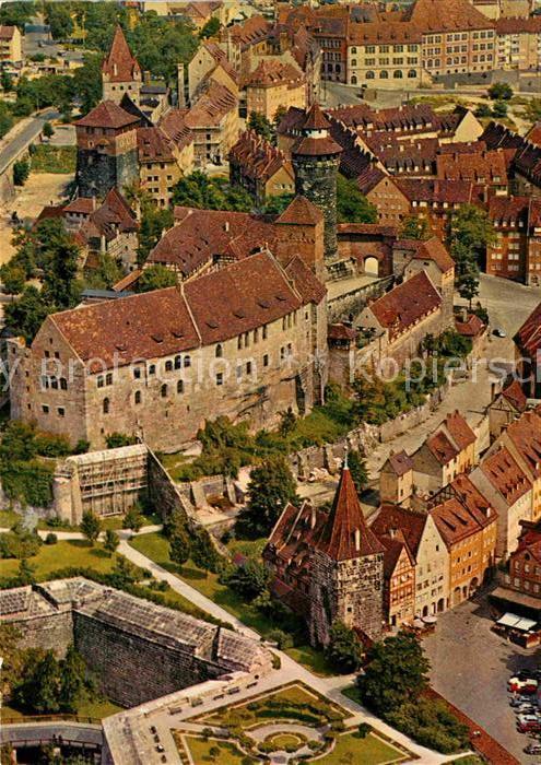 AK / Ansichtskarte Nuernberg Fliegeraufnahme mit Burg Kat. Nuernberg