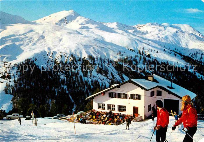 AK / Ansichtskarte Reschen am See Tirol Schihaus Schoeneben Kat. Graun Resia