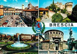 AK / Ansichtskarte Brescia Piazza della Loggia Il Castello Piazzale della Repubblica Duomo vecchio Kat. Brescia