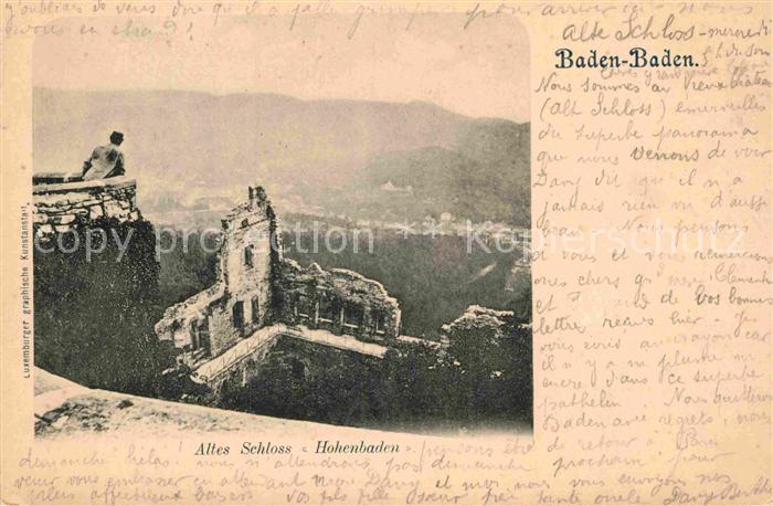 AK / Ansichtskarte Baden Baden Altes Schloss Hohenbaden Kat. Baden Baden