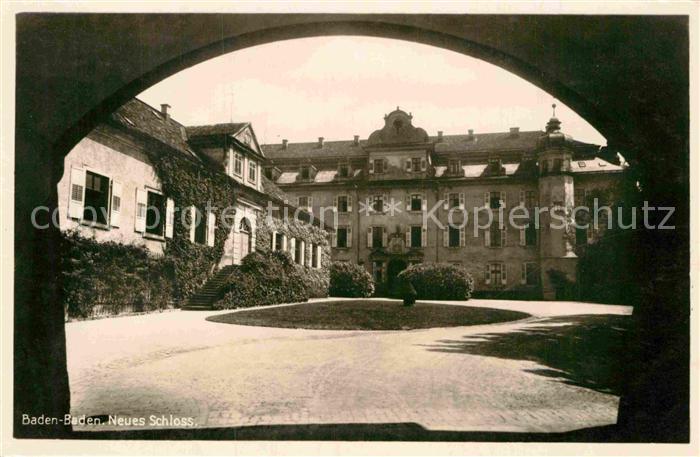 AK / Ansichtskarte Baden Baden Neues Schloss Kat. Baden Baden