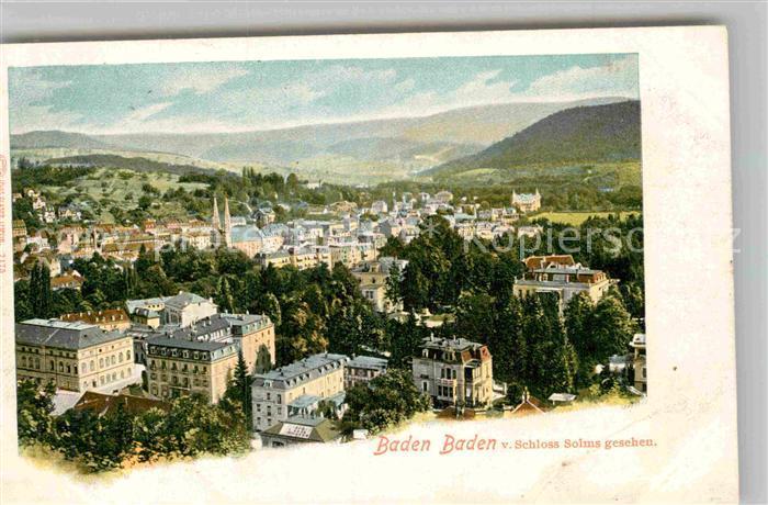 AK / Ansichtskarte Baden Baden Blick von Schloss Solms Kat. Baden Baden