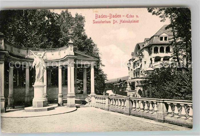 AK / Ansichtskarte Baden Baden Sanatorium Dr Heinsheimer Echo Kat. Baden Baden