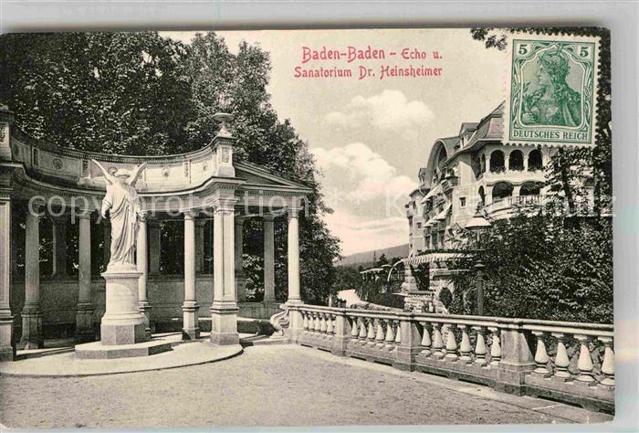 AK / Ansichtskarte Baden Baden Dr Heinsheimer Sanatorium Echo Kat. Baden Baden