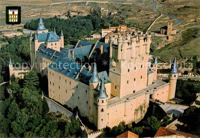 AK / Ansichtskarte Segovia Alcazar Vista aerea Kat. Segovia