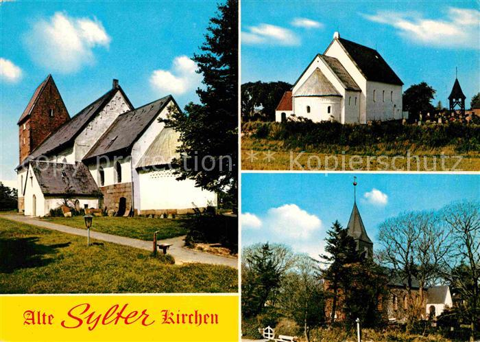 AK / Ansichtskarte Insel Sylt St Severin Kirche St Martin Kirche St Niels Kirche Kat. Westerland