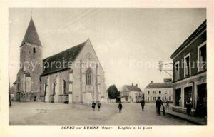 AK / Ansichtskarte Conde sur Huisne Kirche Marktplatz Kat. Conde sur Huisne