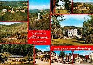 AK / Ansichtskarte Alsbach Bergstrasse und Umgebung Burgen Schloesser Park Sanatorium Aussichtsturm Kat. Alsbach Haehnlein