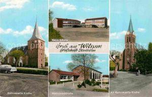 AK / Ansichtskarte Wilsum Reformierte Kirche Mehrzweckhalle Neue Schule Kat. Wilsum
