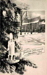 AK / Ansichtskarte Ottenstein Ahaus Kirche Winter Weihnachtskarte