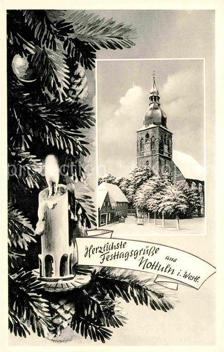AK / Ansichtskarte Nottuln Kirche Weihnachtskarte Kat. Nottuln
