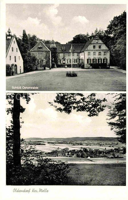 AK / Ansichtskarte Oldendorf Wiehengebirge Schloss Ostenwalde Panorama Kat. Melle