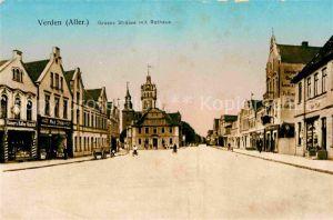 AK / Ansichtskarte Verden Aller Rathaus Grosse Strasse Kat. Verden (Aller)