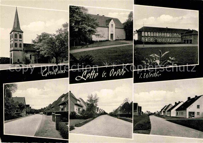 AK / Ansichtskarte Lette Oelde Kirche Ortsansichten Kat. Oelde