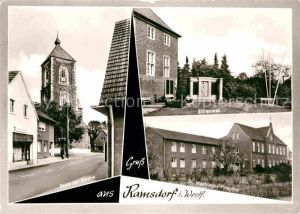 AK / Ansichtskarte Ramsdorf Velen Kirche Ehrenmal Walburgis Hospital Kat. Velen