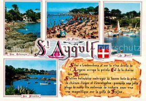AK / Ansichtskarte Saint Aygulf Var Une Calaque La Plage Le Port Les Pinedes Kat. Frejus