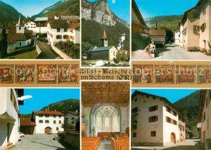 AK / Ansichtskarte Zillis Reischen Schams Kirche Kat. Zillis