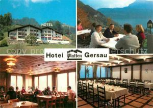 AK / Ansichtskarte Gersau Vierwaldstaettersee Hotel Platten Kat. Gersau