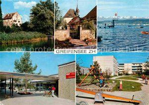 AK / Ansichtskarte Greifensee Stadtansichten Spielplatz Post Schloesschen Kat. Greifensee