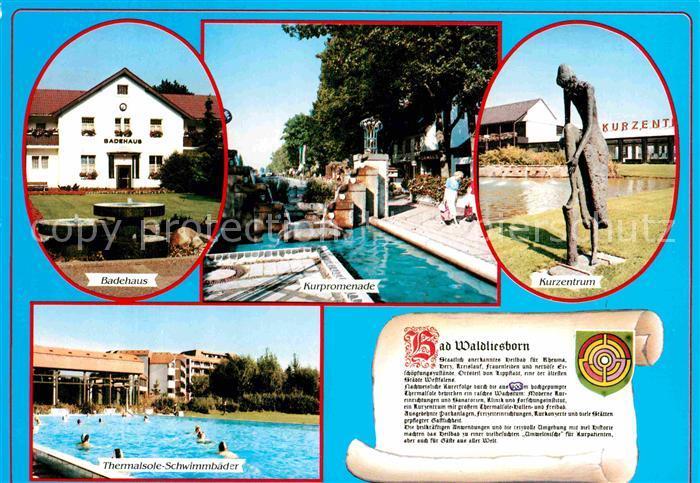 AK / Ansichtskarte Bad Waldliesborn Kurzentrum Badehaus Schwimmbad  Kat. Lippstadt