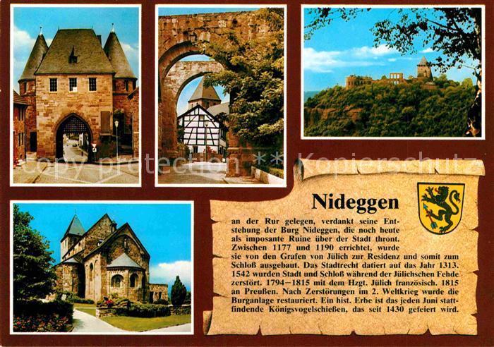 AK / Ansichtskarte Nideggen Eifel Duerener Tor Nixtor Marktplatz Burg Kat. Nideggen